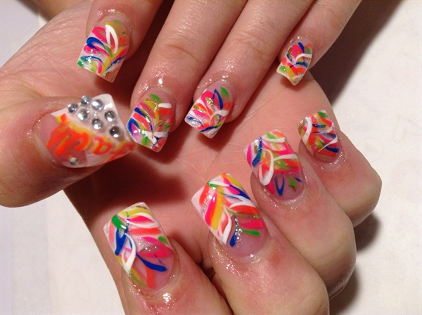 Day 176 Crazy Colors Nail Art Nails Magazine