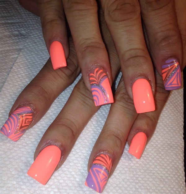 - Day 177: Fun With Neon Nail Art - - NAILS Magazine