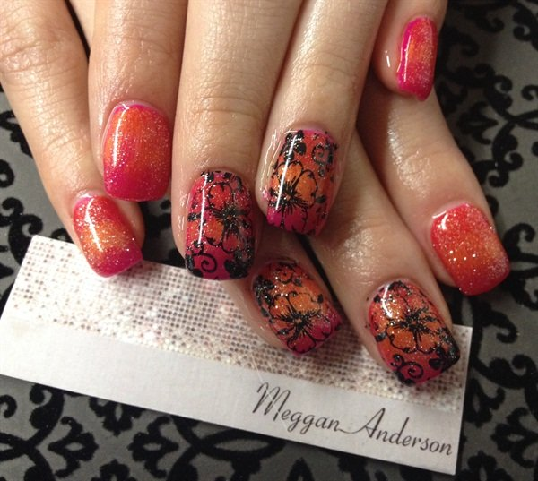 Day 181 flowers of summer nail art nails magazine - Dreamz salon and spa ...