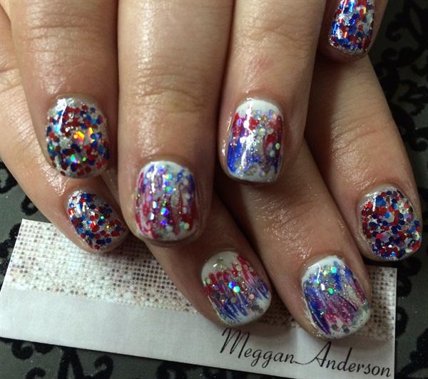 Day 185 fourth of july nail art nails magazine - Dreamz salon and spa ...