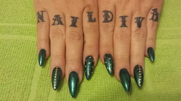 Day 75 Emerald Nail Art Nails Magazine