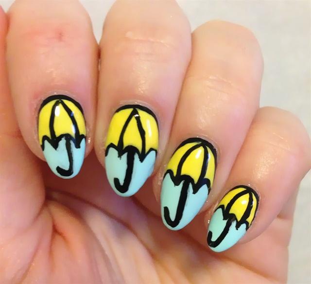 "<p>Via <a href=""https://dottyaboutnails.wordpress.com/2014/05/05/umbrella-nails/"">dottyaboutnails.com</a></p>"