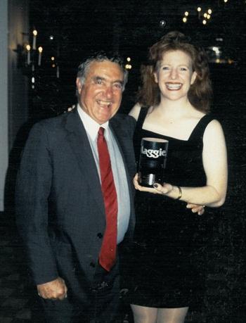 Ed Bobit and longtime NAILS publisher Cyndy Drummey celebrate.
