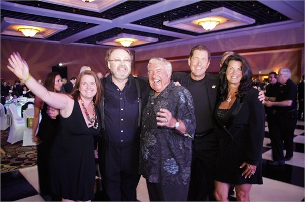<p>NAILS' Hannah Lee, OPI's George Schaeffer, Mr. Bobit, Ty and Nadine Bobit attended the City of Hope's Spirit of Life Award gala in 2012.</p>