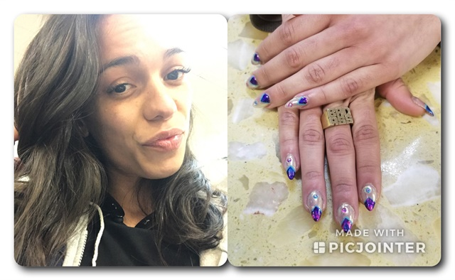 <p>New career, new me! I got lash extensions and a hair cut, and I treated myself to nail art.</p>