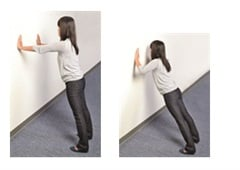 <p>Try a standing push up next time you need to get active at work. </p>