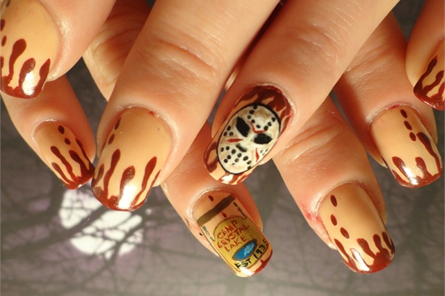 "<p><a href=""http://nailartgallery.nailsmag.com/stoneycute1/photo/300711/friday-the-13th"">Via Nail Art Gallery</a>.</p>"