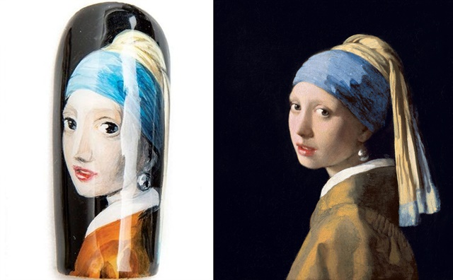 Nail by Shiori Durham, Port Orchard, Wash. Art displayed at Mauritshuis, The Hague.