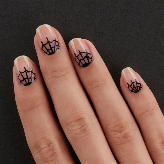 3 Easy Halloween Nail Art Tutorials From Essie , Nail Design