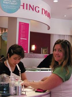 <p>My nail tech at Dashing Diva treated me to a great manicure and pedicure--and I was out the door in just over an hour. The company provides promotional signage to switch out constantly so clients are always treated to fresh promotions.</p>