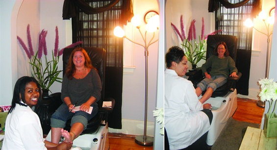 <p>That's me and my mom getting pedicures at Zoe Nail Spa in Charlotte, N.C., in December 2006.</p>