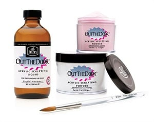 <p>The Out the Door Acrylic Sculpting System features a cross-linking  liquid  and color clarity powder technology for a thin, durable acrylic  coat  that looks adn acts just like natural nails.</p>