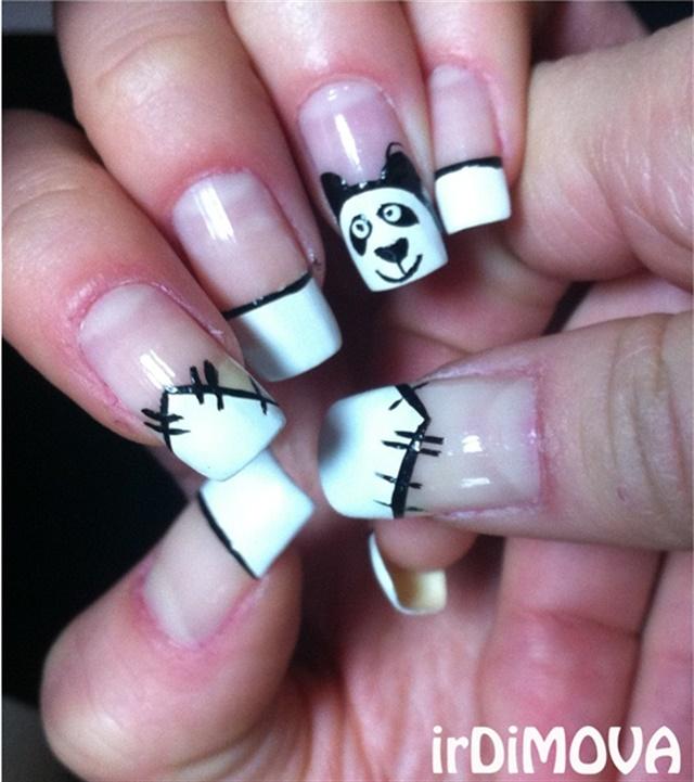 Panda Nail Art for National Panda Day - - NAILS Magazine