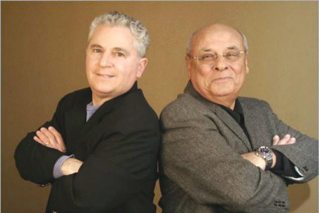 <p>Meyerovich (right) with Joe Galati</p>