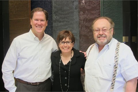 <p>From left to right: OPI's John Heffner, Suzi Weiss-Fischmann, George Schaeffer</p>