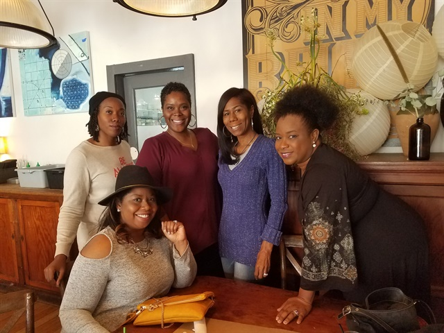 <p>The Atlanta 5 gather for socialization and support. </p>