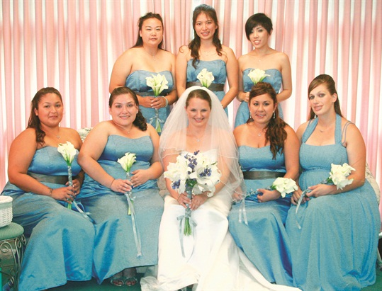 <p>Bridesmaids' dresses will be bold and beautiful. <em>Photography by Tarrah Vierra-Lambert.</em></p>