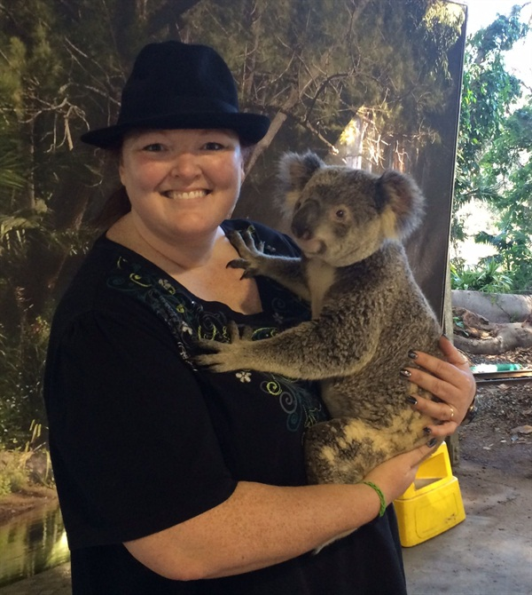 <p>I got to hold a koala at the Currumbin Wildlife Sanctuary. </p>