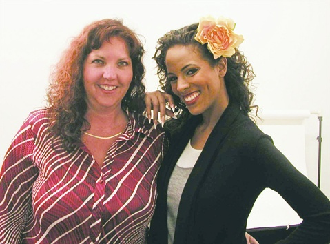 <p>Top competitor and NAILS cover tech Lynn Lammers [left] credits  continuing education as the key to being successful in this industry.</p>