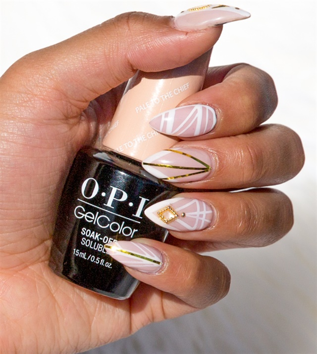 Nail Artist Melly Nguyen Mainstream Nails Of Denver Shows How To Make This On Trend Design Using Opi Gelcolor