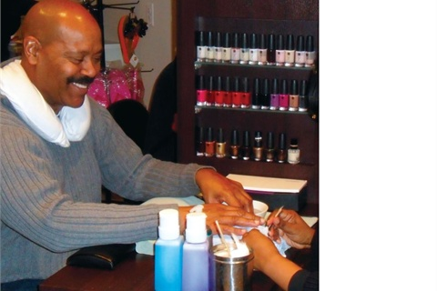 <p>Some of the men were receiving nail services for the first time.</p>