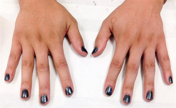 <p>Manicure and polish job for a classmate. </p>
