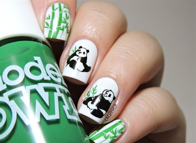 Panda nail art for national panda day nails magazine via nail art gallery prinsesfo Choice Image