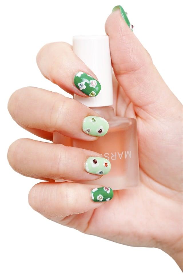 St Patricks Day Mini Clover Nail Art Style Nails Magazine