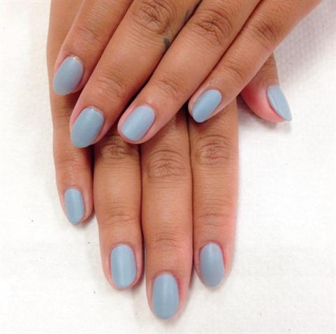 <p>Matte nails for a classmate post spa manicure.</p>