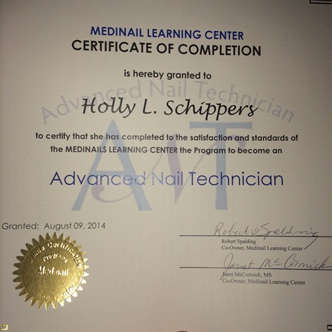 Medinail advanced nail technician course nails magazine theres been so much going on that i almost forgot to share my news i have finally completed the medinail advanced nail technician course prinsesfo Choice Image