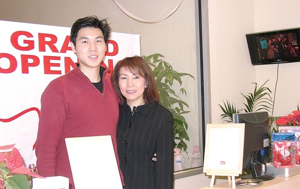 <p>Owner David Kim credits his motherAnnie, an award-winning makeup artist who works at the salon, for his interest in the nail spa industry. She brought him to work with her when he was a young child.</p>