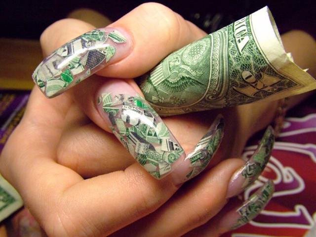 """<p>Image via <a href=""""http://nailartgallery.nailsmag.com/bruhh_nails/photo/392556/money"""">Nail Art Gallery </a></p>"""