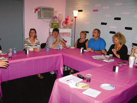 <p>My salon, Tickled Pink, hosted a dinner for MUBA (Mosaidc Unlimited Business Alliance), an organization that has been key in spreading the word about Tickled Pink.</p>