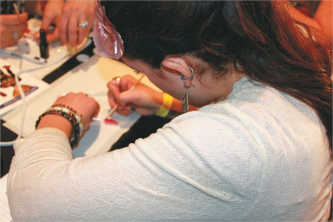 <p>Birchall got to learn new techniques with CND Shellac during her mentorship experience</p>