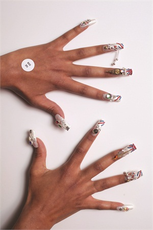<p>Brenda Skermont of the U.S. took second place in division 3 of the Nail Embellishment category.</p>