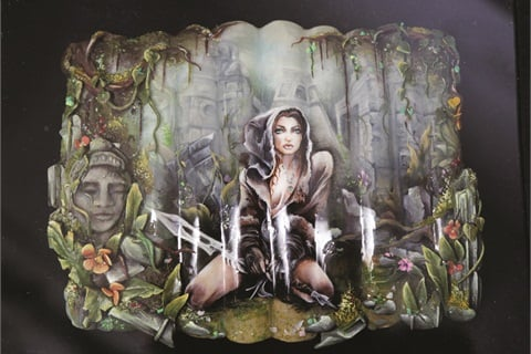 <p>Hungary's Anita Podoba took second place in division 2 of the Mixed Media category.</p>