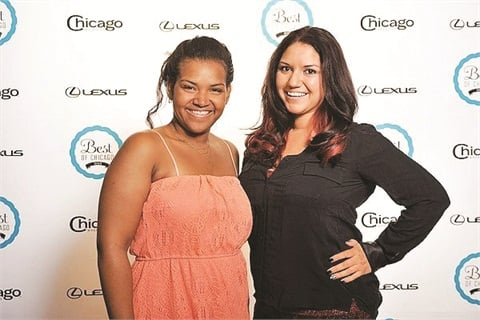 <p>Nikki Rios (right) and I attended Chicago Magazine's Best of Chicago 2012 Awards Celebration.</p>