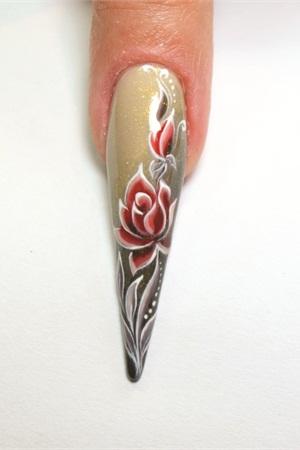 Alessandros Classic Rose Design Technique Nails Magazine