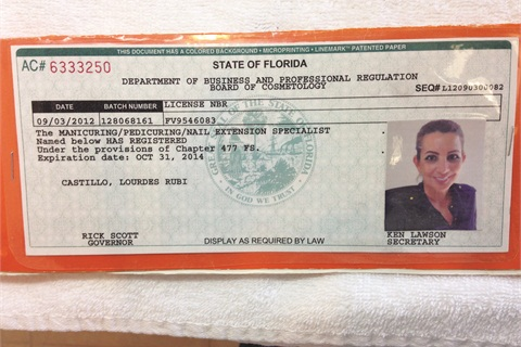 <p>A valid license must be displayed. This is Castillo's.</p>