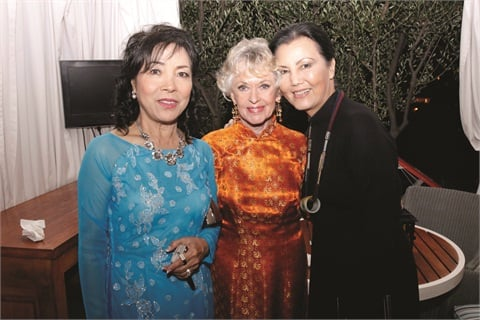 Thuan Le (left) was one of the original 20 Vietnamese women who entered the nail industry thanks to Hedren. Actress Kieu Chinh (right) spoke about Hedren's contributions to the Vietnamese community and the nail industry.