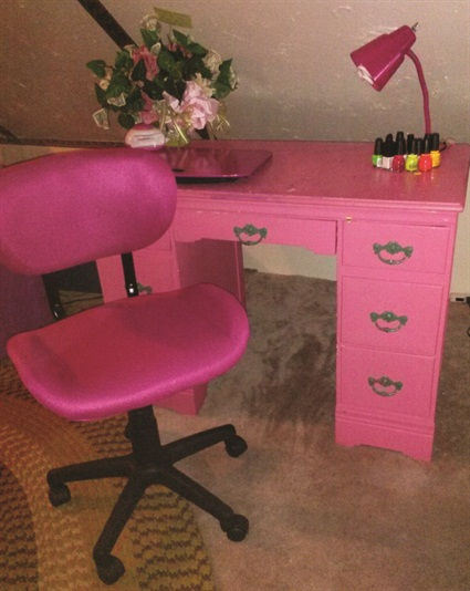 Show us your manicure tables style nails magazine for Nail table and chairs