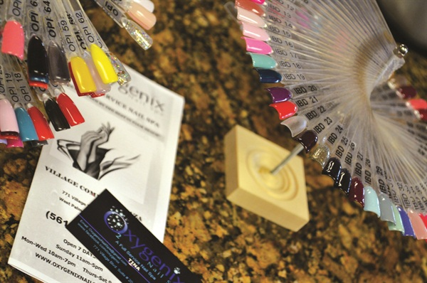 Oxygenix provides numerous color swatches for clients to choose from.