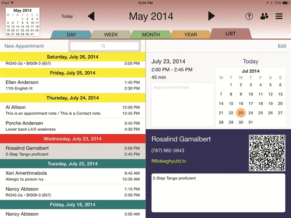 The Rendezvous Appointment Book For IPad Presents A Simpler Way To Create And Manage Appointments With Goal Of Replacing Paper