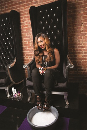 Candice Idehen came up with the business plan for Bed of Nails Nail Bar in an African-American Entrepreneurship class during her undergraduate days.