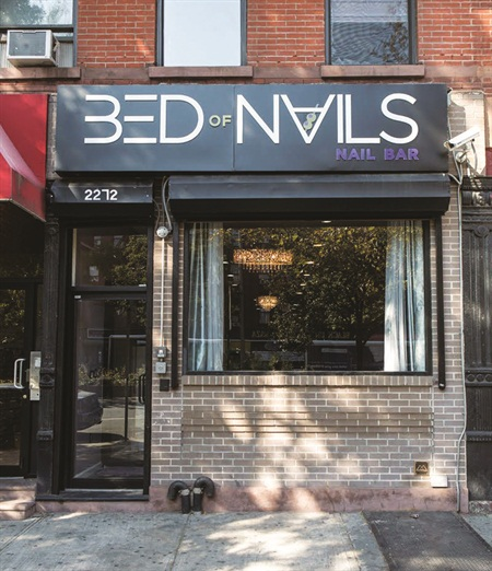 Bed of Nails Nail Bar is located in Manhattan's Harlem neighborhood. The large 1,400 sq.-ft. space is quickly becoming a hub of the community.