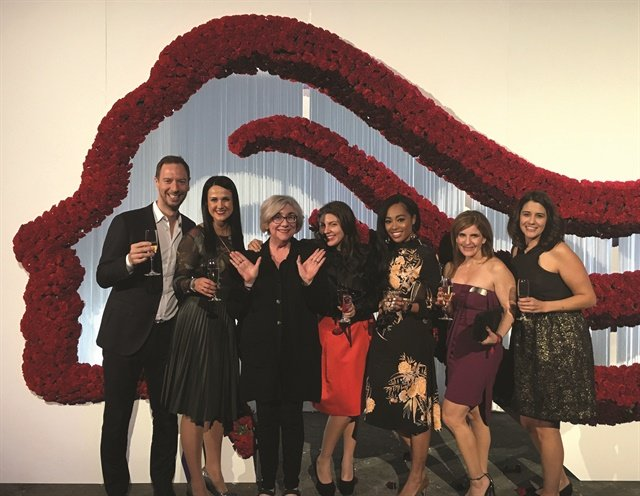Me and members of the OPI & Wella Team at the International Trend Vision Awards in Barcelona.