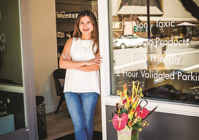 Dolls & Dandy is located in Mill Valley's upscale downtown area. Owner Katie Ezzeddine is pictured.