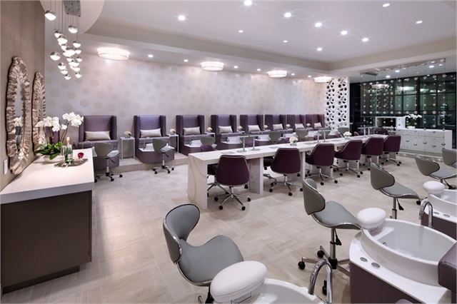 Proper lighting is essential to the feeling of your salon, and experts recommend leaning toward warm tones.
