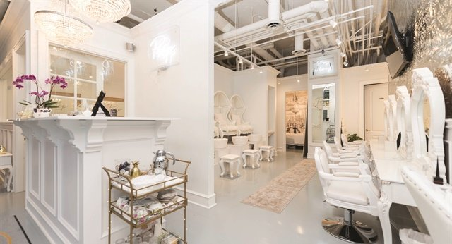 Vancouver salon owner Mika McInnes says business quickly doubled when she moved to a new location adopted a lovely French-inspired, all-white decor. [Photo courtesy of Prép Beauty Parlour]