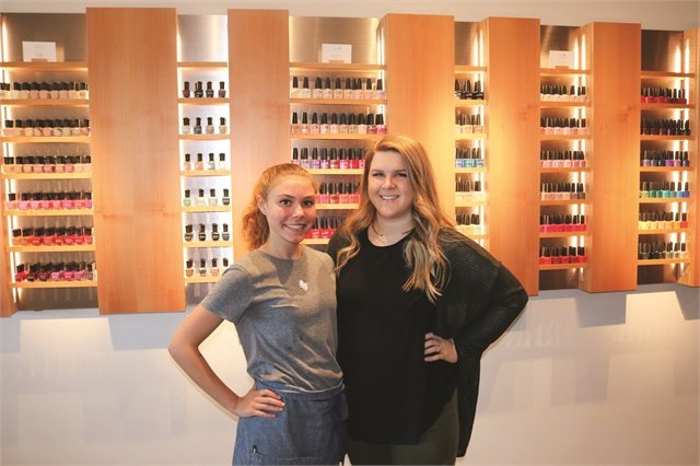 <p>My nail tech, Alyssa Birdsong (left), was extremely attentive and friendly — we even discovered we went to the same nail school!</p>